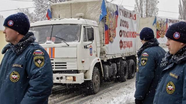 Rusischer Hilfskonvoi in Donezk (Archiv)