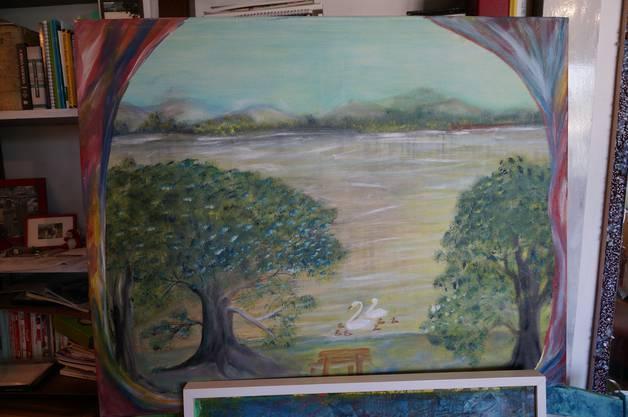 Die Noetzliwiese aus der Fantasie der Kunstmalerin