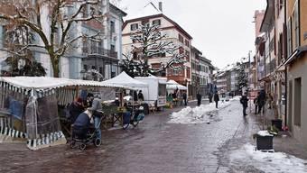 Wegen Corona sind in der Rheinfelder Altstadt nur wenige Passanten unterwegs.