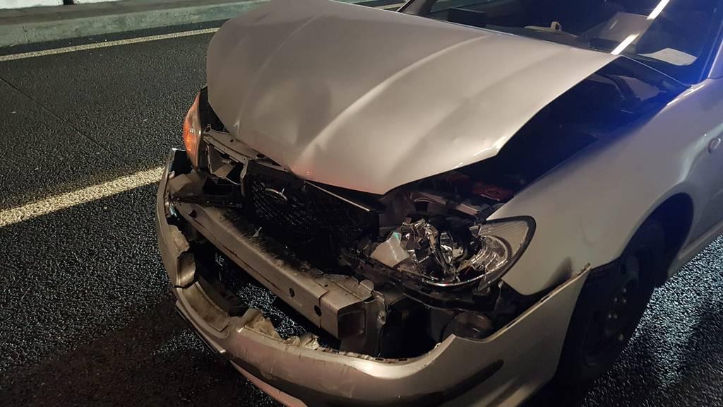 So sah das Auto des 20-jährigen Lenkers nach dem Unfall aus.