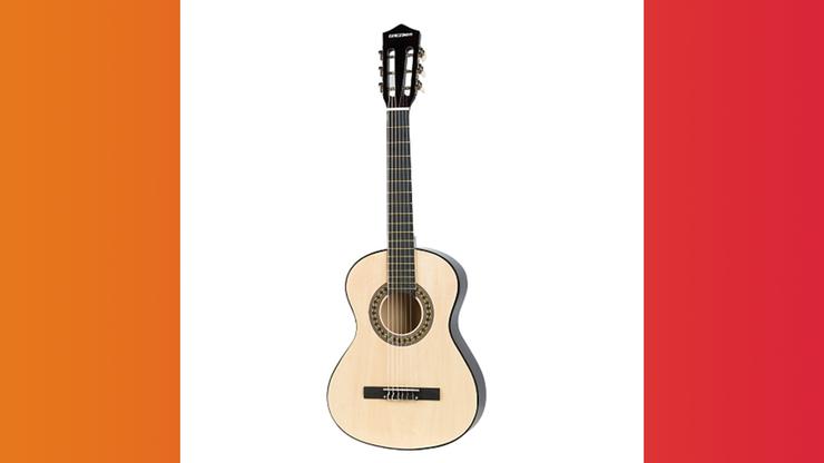 Wunsch-Nr. 11, Juana, 13 Jahre, Play On Holzgitarre, ca 86 cm, CHF 49.90, zB bei Galaxus
