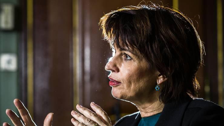 Energieministerin Doris Leuthard (CVP) steht vor einer der wichtigsten Abstimmungen als Bundesrätin.Chris Iseli