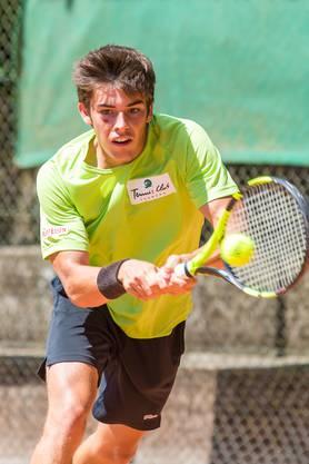 Nachwuchstalente Luca Giacomelli trainiert in Trimbach.