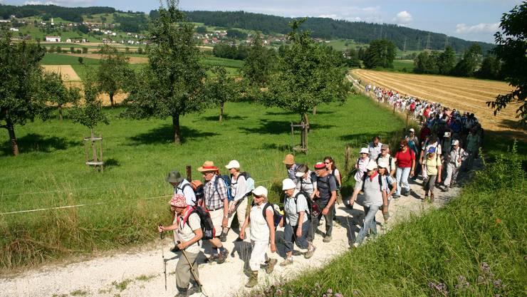 90 Freiwillige sorgen für schöne Aargauer Wanderwege