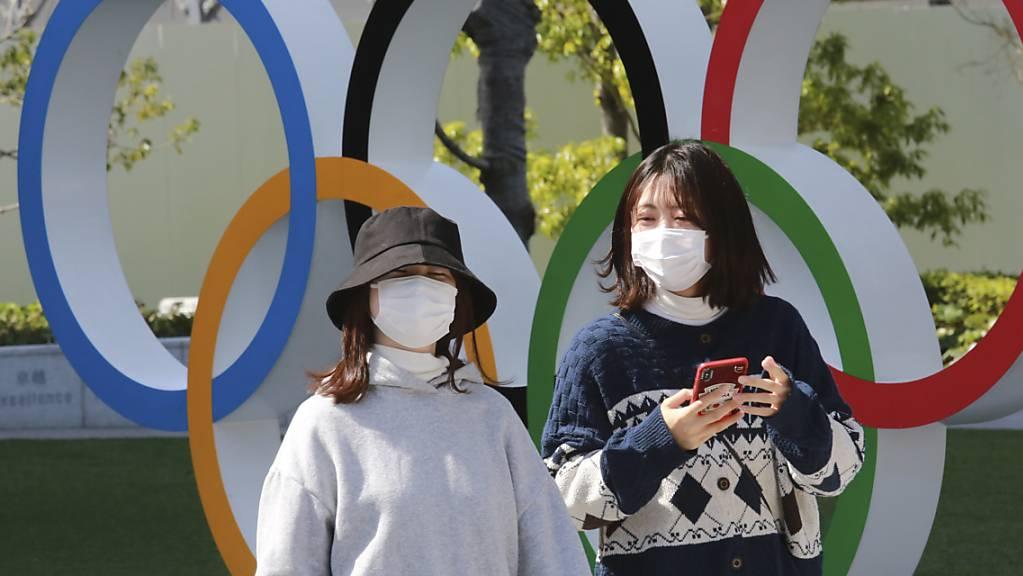 Bei den Sommerspielen in Tokio dürfen wegen der Corona-Pandemie keine ausländischen Fans nach Japan einreisen.