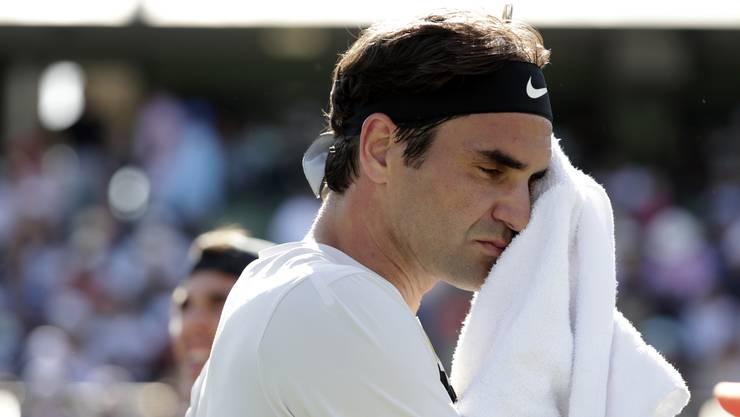 Roger Federer beim Match gegen Thanasi Kokkinakis.