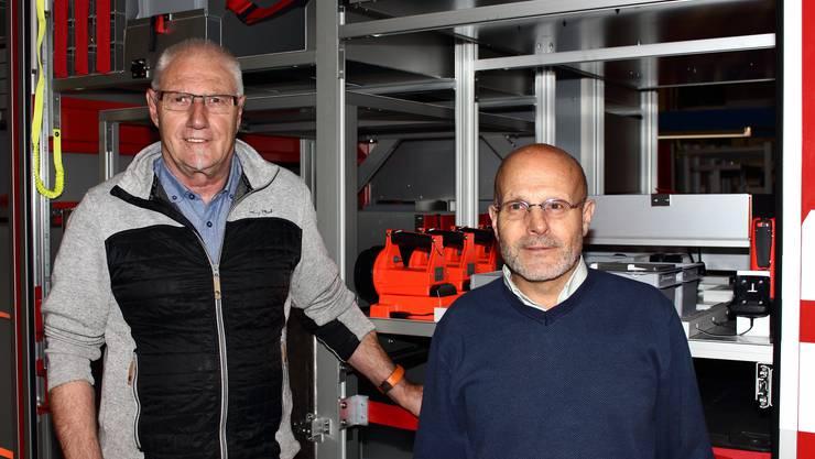 Die Feumotech-Gründer Peter Jäggi (l.) und Stefan Cartier.