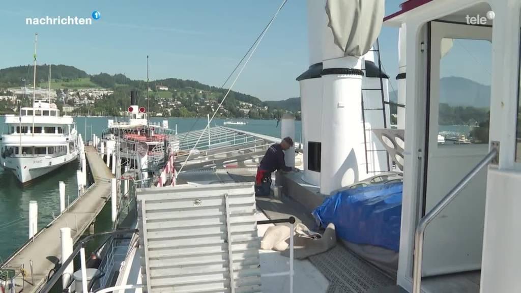 Sanierungsarbeiten am Dampfschiff Stadt Luzern