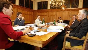 Die erste Regierungsratssitzung in der neuen Zusammensetzung.