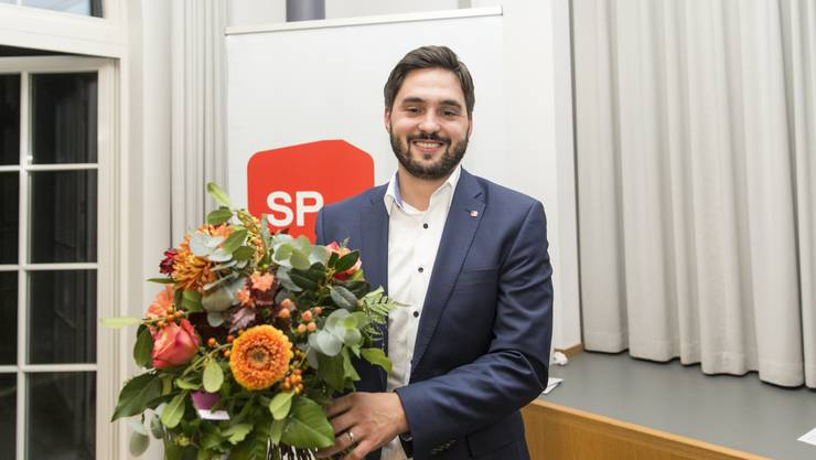 Cédric Wermuth nach der Ständeratsnommination am SP-Parteitag.