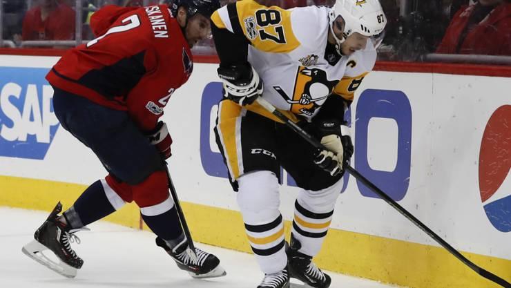 Zurück auf dem Eis: Pittsburghs Superstar Sidney Crosby (rechts)