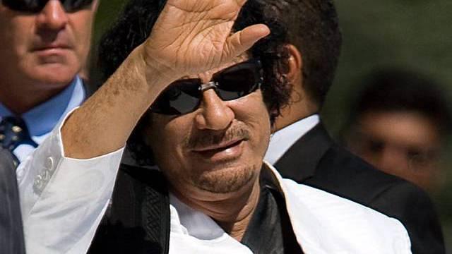 Der libysche Führer Muammar el Gaddafi