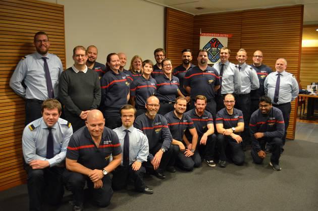 Alle beförderten und geehrten Feuerwehrkameradinnen und Kameraden