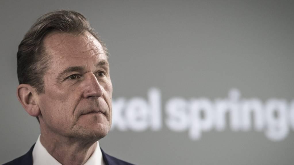 Nach Einstieg von KKR: Der Konzernchef des Axel-Springer-Verlages, Mathias Döpfner, kündigt in einem Zeitungsinterview einen Stellenabbau an. (Archivbild)