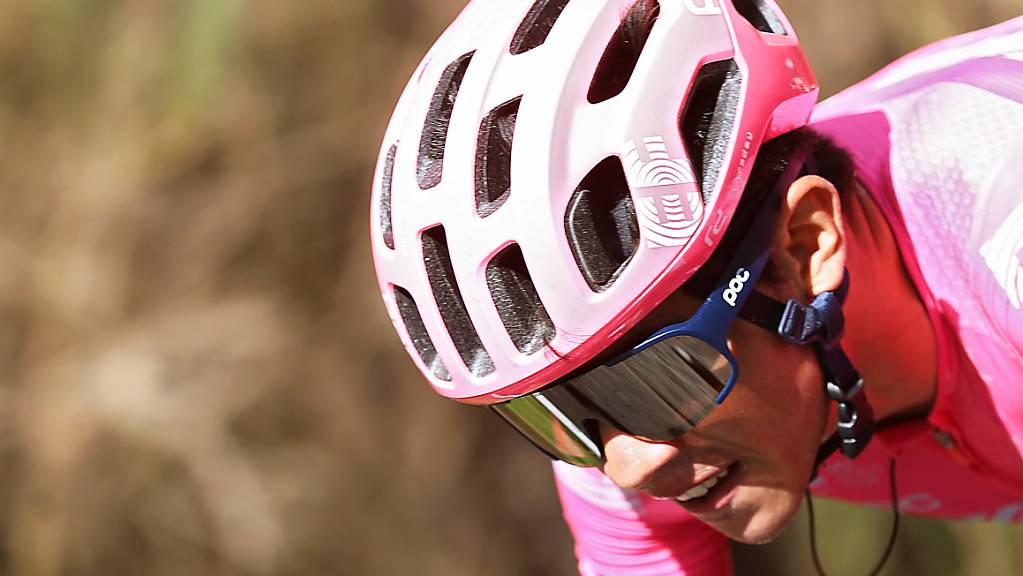 Sergio Higuita während der 18. Etappe der Vuelta. Nach 117 Kilometern feierte der 22-jährige Kolumbianer solo seinen ersten Profisieg.