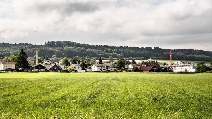 Die Silhouette des Dorfes Arch ist geprägt von mehreren Baukränen.