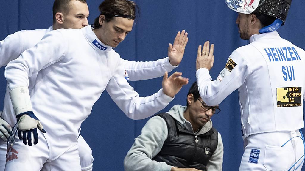 Starker Auftritt: Michele Niggeler (li.) holte die meisten Punkte für die Schweizer Degenfechter im Achtelfinal gegen Ägypten