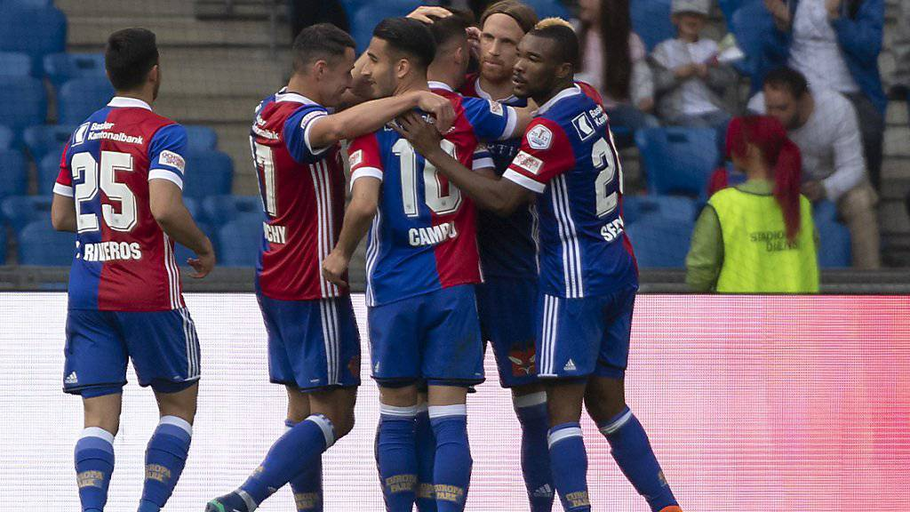 Am Ende jubelt der FC Basel: Später Siegtreffer gegen Lausanne.