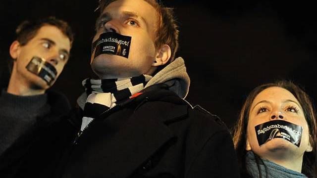 In Ungarn kam es zu Protesten für mehr Pressefreiheit (Archiv)