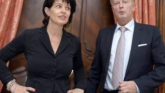 Bundesrätin Doris Leuthard und Österreichs Wirtschafts- und Energieminister Reinhold Mitterlehner in Wien