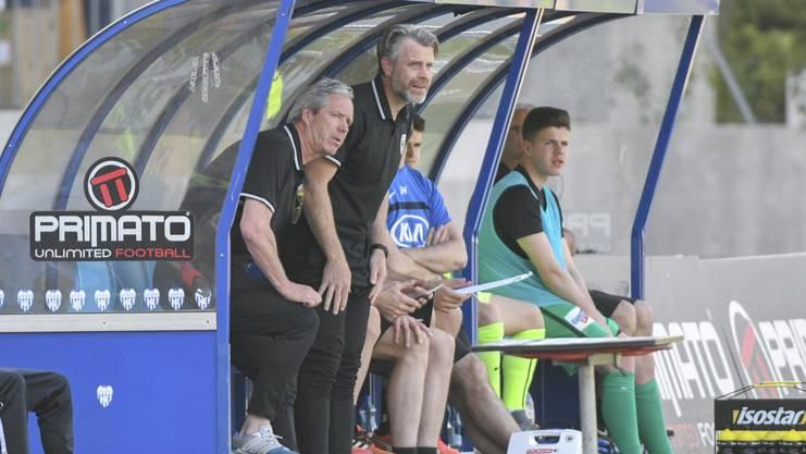 Aarau-Trainer Ton Verkerk und Assistenztrainer Stephan Keller