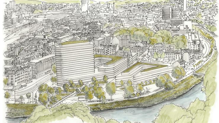 Kongresszentrum, Hotels und Park: So könnte das Carparkplatz-Areal aussehen.