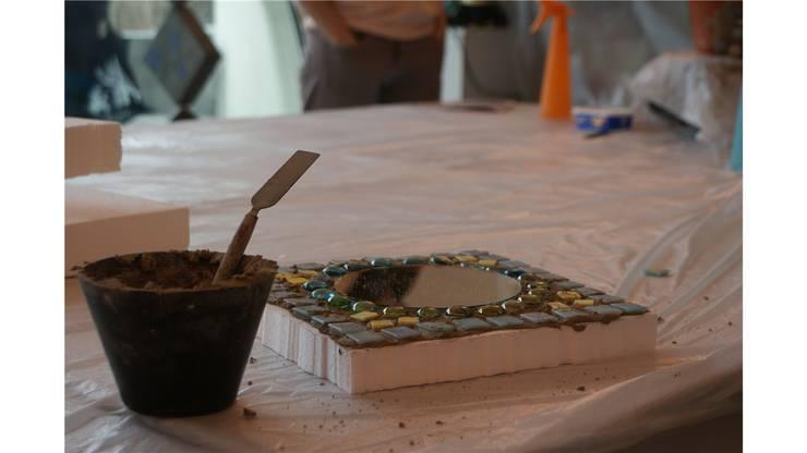 Lios Mosaik ist fertig und wird bis nächste Woche getrocknet.