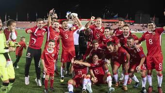 Die Spieler von Gibraltar hatten zum Auftakt der EM-Qualifikation gegen Irland beinahe Grund zum Feiern