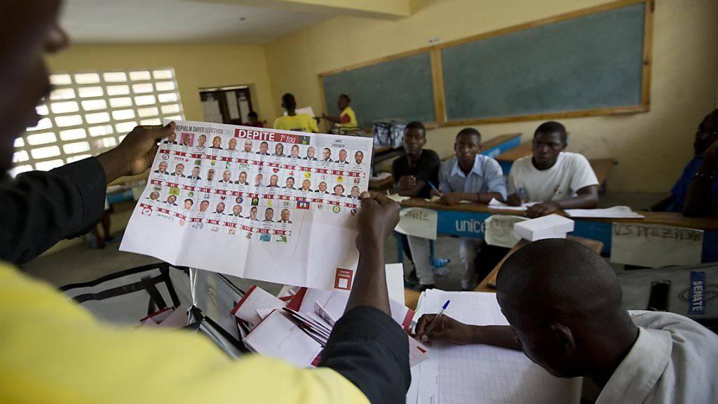 Holte nur wenige Stimmbürger aus ihren Stuben: Parlamentswahl in Haiti