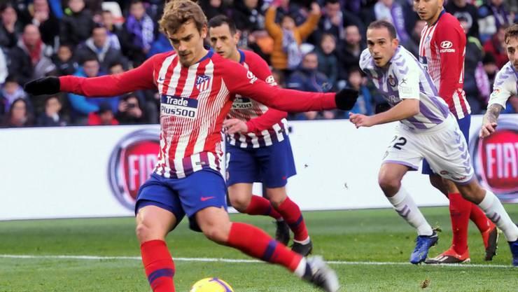 Antoine Griezmann traf für Atlético Madrid zweimal - hier mittels Penalty