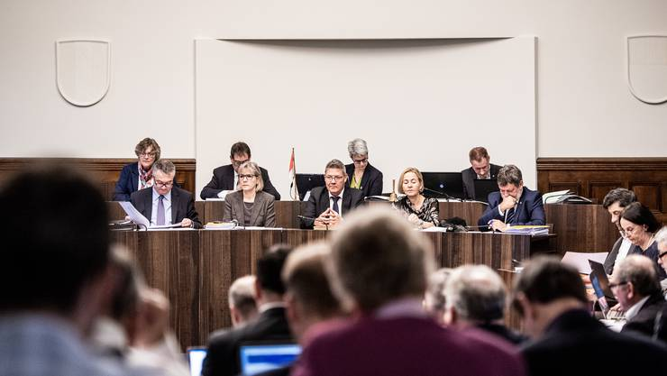 Steuervorlage-Debatte im Kantonsratssaal am 19. November 2019.