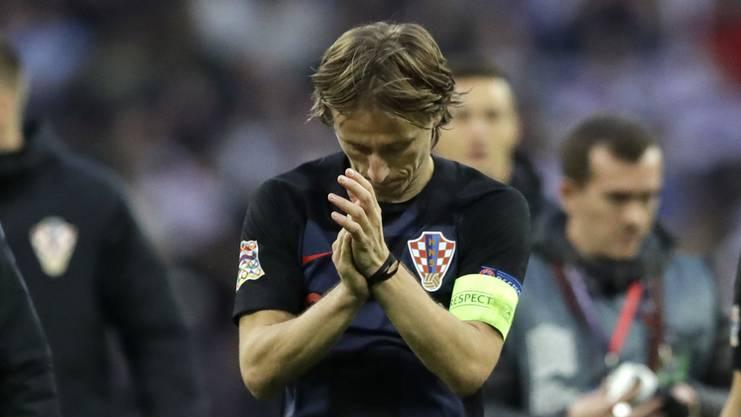 Auch Topstar Luka Modric kann den Abstieg nicht verhindern.