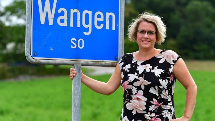Bekam im Disput mit Gemeinderat Christian Riesen von der Gemeindeversammlung den Rücken gestärkt: Wangens Gemeindepräsidentin Daria Hof.
