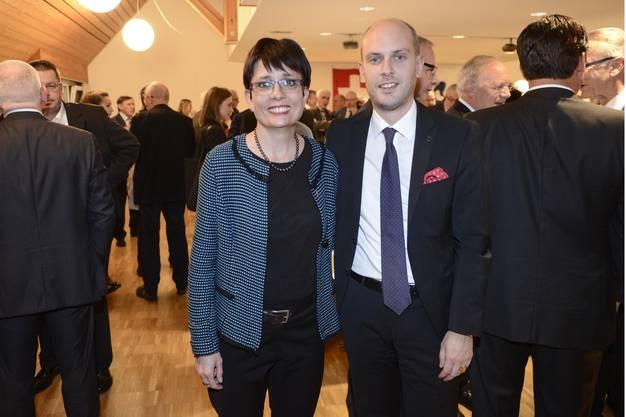 Landratspräsidentin Elisabeth Augstburger und der damalige Grossratspräsident Joel Thüring.