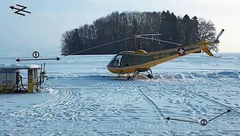 Der Helikopter sei unter anderem zu nah an der Tankstelle (links) gestartet.