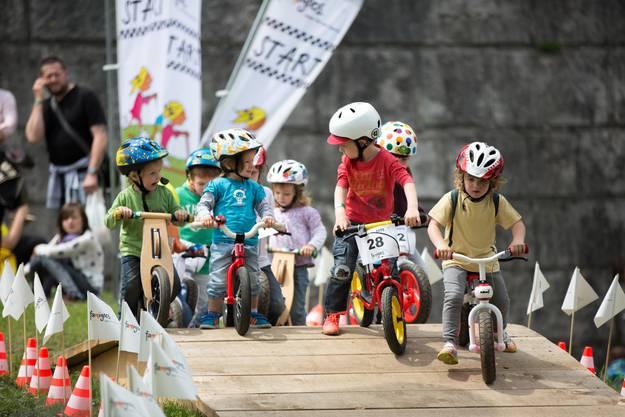 Laufradrennen der Kleinen