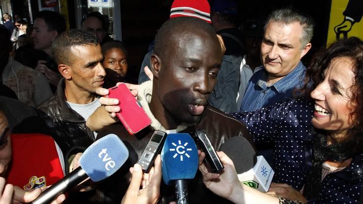Unfassbare Geschichte: Der 35-jährige Ngame aus Senegal räumte beim Weihnachtslotto in Spanien ab.