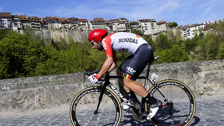 Thomas De Gendt - hier beim Prolog in Freiburg - feierte an der Tour de Romandie einen beeindruckenden Solosieg