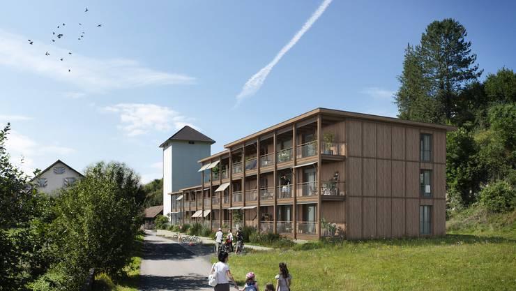 Zehn Wohnungen mit 3,5 bis 5,5 Zimmern sollen im idyllischen Mühlequartier entstehen.