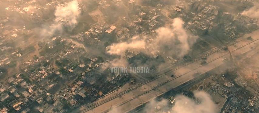 Propaganda in Hollywood-Manier: Russen liefern gestochen scharfe Drohnen-Videos von einer Bodenoffensive bei Damaskus