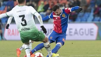 Traf gegen seinen Ex-Verein St. Gallen zweimal: Basels Albian Ajeti