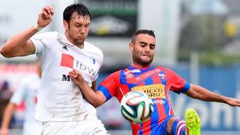 Kevin Pezzoni (l.) sah seinen FC Wohlen in Chiasso mit Vorteilen: «Wir hatten den Gegner nahezu über die komplette Spieldauer im Griff.