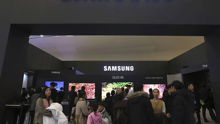 Der koreanische Samsung-Konzern hat im zweiten Quartal deutlich weniger verdient als im Vorjahr. (Archivbild)