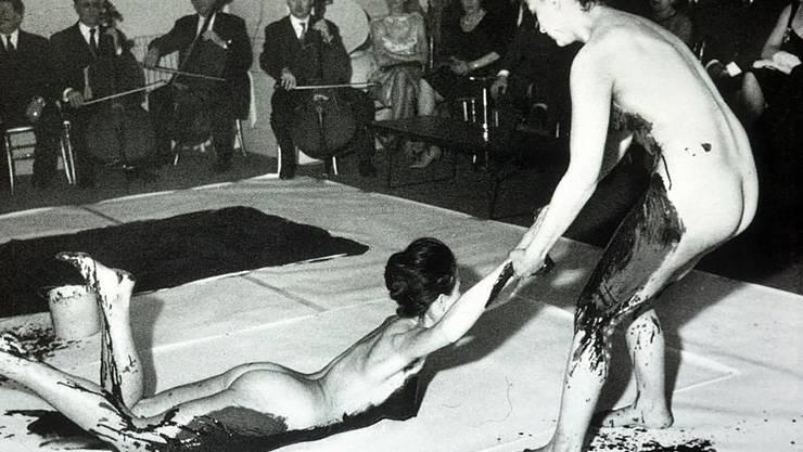 Die Aktion von Yves Klein 1960