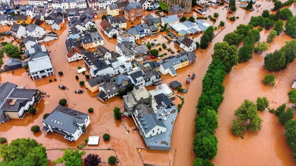 Mehrere Städte und Dörfer in Rheinland-Pfalz wurden vom Wasser überflutet.