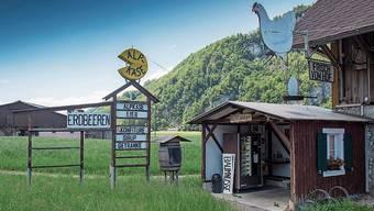 Der Nebenverdienst ist ein bewährtes Konzept – Hofladen in Enetmoos. Bild: Bürgisser