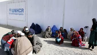 Afghanische Binnenflüchtlinge in einem Camp in der afghanischen Hauptstadt Kabul. (Archiv)