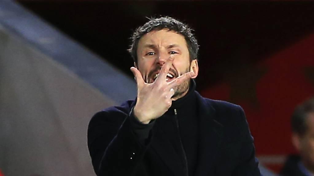 Einmal zu viel verloren: Trainer Mark van Bommel wurde beim PSV Eindhoven entlassen