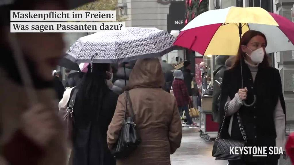 Maskenpflicht im Freien: Was sagen Passanten dazu?