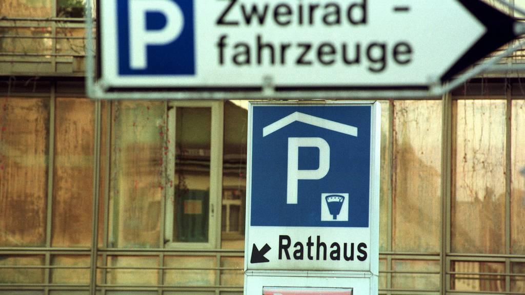Die Rathaus-Parkgarage kann eine Woche lang nicht benutzt werden. (Archiv)